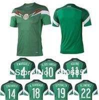 2013/14 Mexico green soccer jersey 2014 World Cup r marquez g dos santos aquino chicharito a guardado o peralta r jimenez jersey