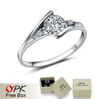 OPK JEWELRY Classic Design AAA Cubic Zirconia 0.87 ct. CZ diamond Wedding Ring Elegant Lady Eternity Ring top quality, 936