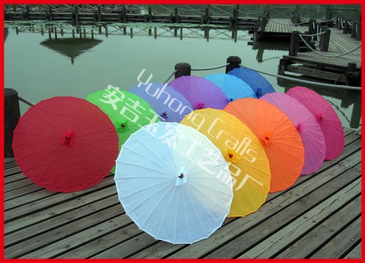 5pcs/lot free shipping silk wedding parasol nylon umbrella with several colors available(China (Mainland))