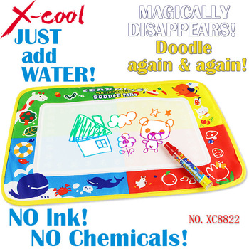Xc8822 46x30cm 4 color Water Drawing Toys Mat Aquadoodle Mat&1 Magic Pen/Water ...