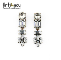 Artilady new Rhinestone Chandelier earrings fashino women jewelry free shipping