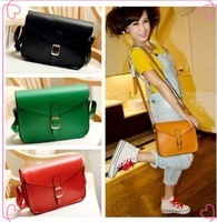 Free Shipping Designer Handbag Satchel Purse pu leather Tote shoulder Messenger Bag candy color 1Pcs/Lot W2004