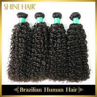 Human Hair Weaves 4Bundles 6A Unprocessed Brazilian Curly Virgin Hair Machine Weft Brazilian Deep Wave Rosa Hair Free shipping