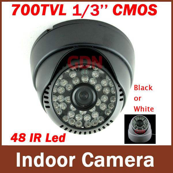 High Resolution Video Cameras 1/4'' Color Cmos 700 TVL,48 LEDs Camera CMOS IR Dome CCTV Camera(China (Mainland))