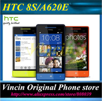 Original HTC Windows Phone 8S A620e 5MP Wifi GPS 4.0 inch Unlocked Smart Cell Phone Refurbished