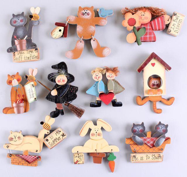 Wooden Post Muggle World Fridge Magnets 5pcs set,Cartoon Magnet Cat Refrigerator wall Magnetic Refrigerator Free Shipping BKH-22(China (Mainland))