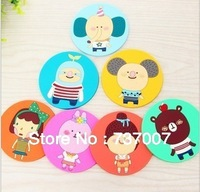 Japanese Roman family non-slip silicone cup mat soft rubber cup mat cartoon mat mobile phone pad insulation pad