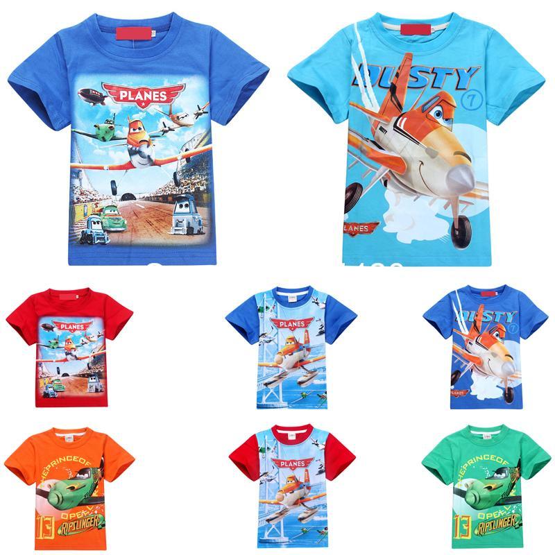 2014 new brand fashion planes boys t shirt,summer short sleeve baby kids boy's shirt,retail cotton children clothes tops tees(China (Mainland))