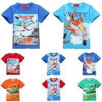 2014 new brand fashion planes boys t shirt,summer short sleeve baby kids boy's t-shirt,retail cotton children clothes tops tees