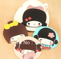 System and wind on the ancient nai son lovely cartoon silica gel cup mat/heat/eat mat