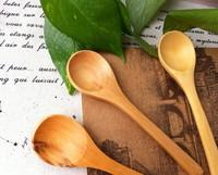 Korean solid wooden spoon cup accessories/spoon stirring spoon coffee spoon scoop