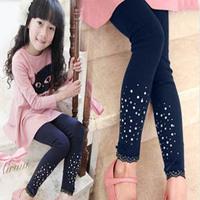 2015 baby girl leggings kids cotton fashion pants for spring/autumn baby  leggings children pants rhinestone leggings TZ-A051