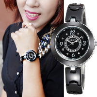 Free Shipping Top Quality Fine Full Ceramic Watches Lady Bracelet Watches Luxury Fashion Watches