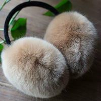1X 2014 New plush earmuffs Ultralarge solid color faux fox winter fur earmuffs thermal ear package for lovers design