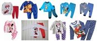 Hot sell kids pajamas/Long sleeves cotton pajamas suit/Unisex children sleepwear/New arrival