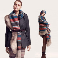 2013 Nation Bohemian style stitching Winter and autumn warm Super long Scarf Thick Plaid Multicolor Good quality women's scarf