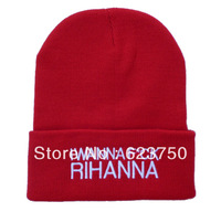 Free shipping wholesale New Arrival I wanna fuck Rihanna Beanie Hats most popular hip hop sports caps top quality Beanies