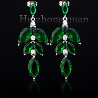 New luxury wedding lady plated 18kt earrings  zircon earrings