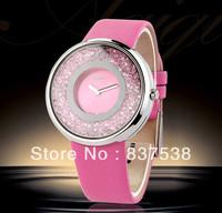 2014 New Arrival Brand Leather Strap lady watches sapphire rhinestone quartz watch women fashion luxury wristwatch freeshipping