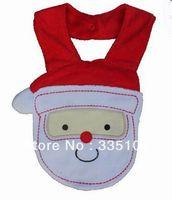 Free & Drop shipping baby Christmas gift waterproof bib Santa Claus Baby bibs infant saliva towel Retail
