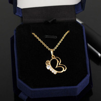 New Style 18K Gold Plated Cute and Beautiful butterfly Romantic Design Necklaces&Pendants for women Wholesale YILIA