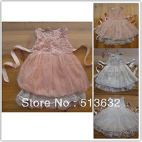 Sweety Girl Summer Lace Rose Flower Dress Kids Clothes Fashion Wholesale 100pcs/lot 5*20+7*20+9*20+11*20+13*20