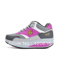 New 2013 running shoes woman Pumps sneakers for women flats  genuine leather High quality fast delivery to Russia