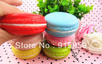 New  8cm jumbo Macaroon Squishy Cell Phone Charm straps Squishies Buns Cake Food  christmas gift  freeshipping 10pcs/lot