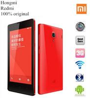 Original XIAOMI Redmi Hongmi Quad Core Mobile Phone 1.5Ghz MT6589T 1GB/4GB 4.7 Inch IPS Dual SIM Support 32GB Cards Smartphone