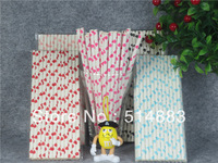 Free Shipping(20packs/lot) 151 colors Event & Party Supplies straws and Heart Drinking Paper Straws(1 lot=500pcs)PS003