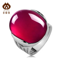 Free shipping 925 pure silver fashion vintage ring Women thai silver ring Sweets jade   accessories