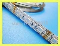 RGB LED strip light SMD 5050 LED flexible strip waterproof IP44 DC12V RGB SMD5050 60 led / M 300 led / reel free shipping