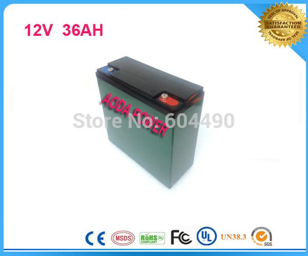 TNTEMS shipping 2pcs/lot 12V 36AH Li-ion Battery For Electric Skating Board, Golf Cart Batteries,UPS(China (Mainland))