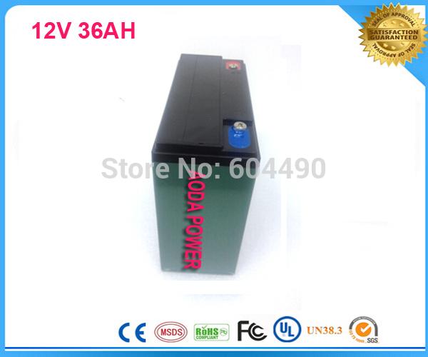 DHL/TNT/UPS shipping 10pcs/lot 12V 36AH Li-ion Battery For Electric Skating Board, Golf Cart Batteries,UPS(China (Mainland))