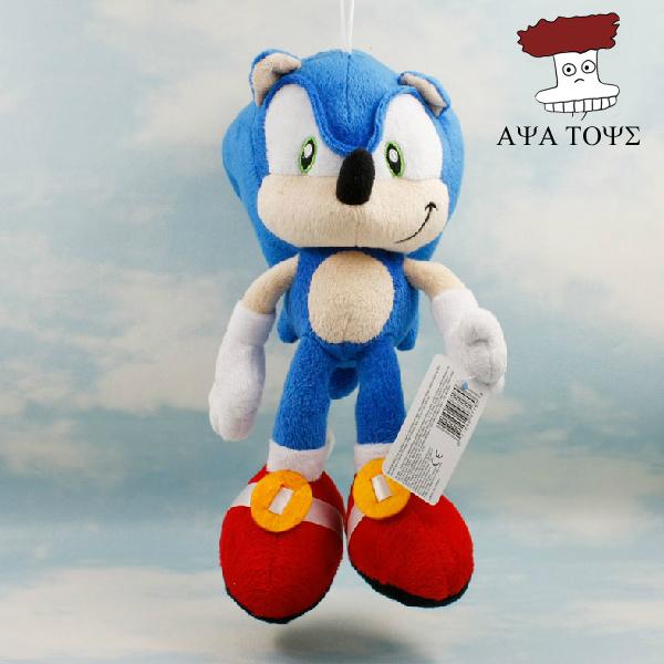 "5pcs/lot Plush Toys 11"" 27cm Blue Sonic The Hedgehog Plush Doll Soft Stuffed Figure Doll Key Chain Kids Gift SEGA Wholesale(China (Mainland))"
