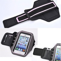 Free Shipping 7 Color Gym Jogging Phone Arm Band Case holder cover Forfor iphone 5 5S 5C Diving Phone Arm Band Case   New list
