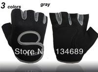 slip-resistant new 2013 sport glove unisex autumn -summer  gloves women men cycling sports fitness for mens womens half finger