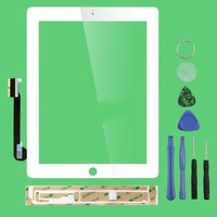 Free shipping Front Panel Digitizer Touch Screen Glass for iPad 3 3rd or ipad 4 4th  Gen Generation+Tools