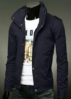Spring and Autumn Men's Long Sleeve Stand Collar Jacket Coat Outwear
