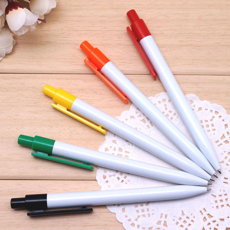 15 pcs/lot Free shipping pen samples Plastic ballpoint pen for writing 6 colors caneta(China (Mainland))