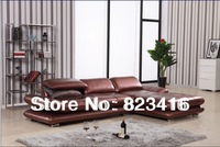 Leather Corner Sofa AL503 wine red fashion corner sofa