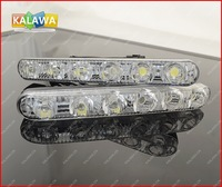 one pair High and low beam 18w Aluminum LED daytime running lights with lens waterproof  High Power DRL FREESHIPPING GGG