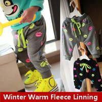 2014 Winter Kids Boys Girls 6M-4T Children Warm Casual Trousers Thick Velvet Lesuire Harem Pants