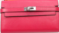 H women's hasp the whole genuine leather wallet clutch bag