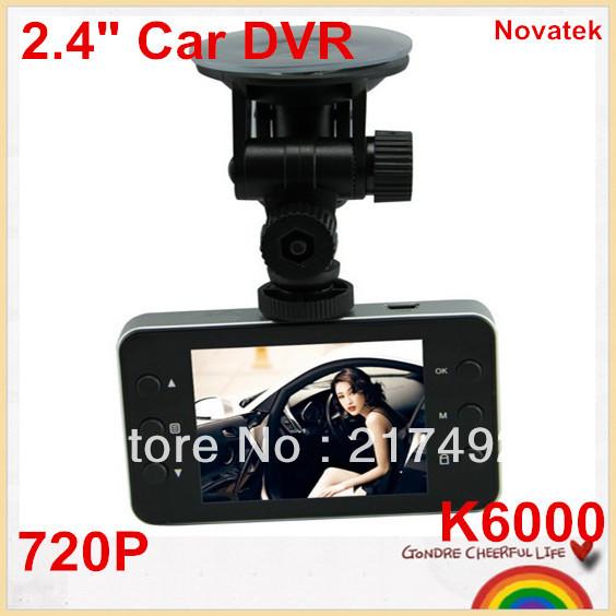 "Hot selling!cheap Mini 2.4"" Car DVR K6000 NOVATEK Chip LCD Recorder Video Dashboard Vehicle Camera Dropshipping is welcomed!(China (Mainland))"