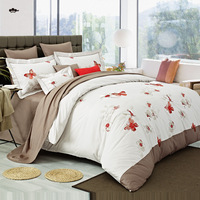 Promotion!!!Super Soft/100% Cotton Bedding Sets/New Fashion Bedding Set/4pcs Embroidery Wedding Duvet Cover Set/Size Full Queen