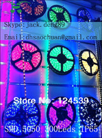 5M 5050 SMD LED Waterproof IP65 Red White Yellow Blue Green warm white RGB Strip Light 60 LED12V