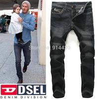 New Fashion Style Men's Brand Jeans Pants Man Casual Cotton Denim Trousers Designer Black Color
