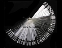 50pcs False Nail Art Board Tips Stick Polish Foldable Display Practice Transparent Fan Clear 3089