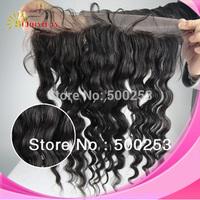 "Fashional HOT SALES Virgin Brazilian Human Hair Lace Frontal 13""*4"" Natural Color Loose Wave Hair Extension"